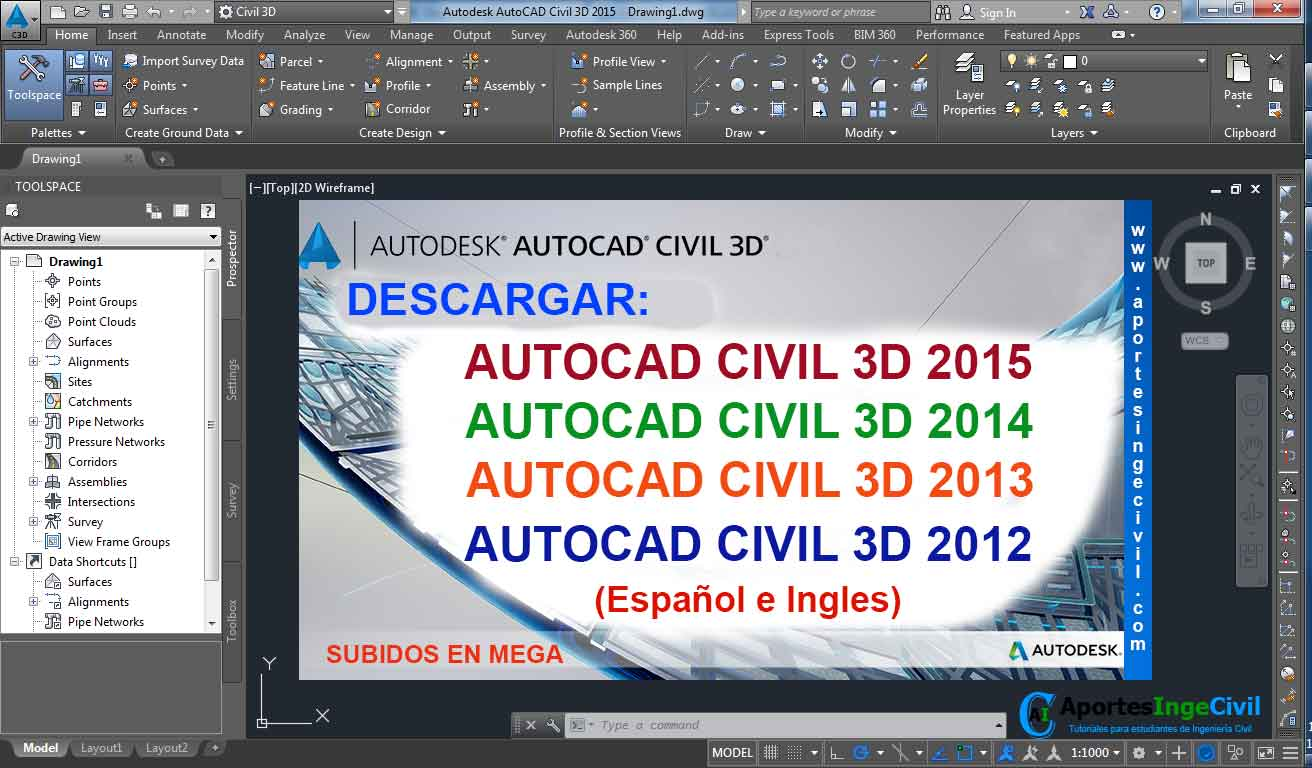 descargar autocad civil 3d