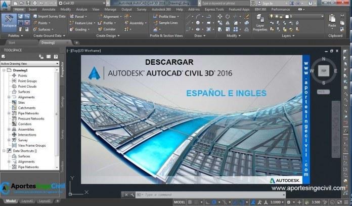 Descargar Autocad Civil 3D 2016