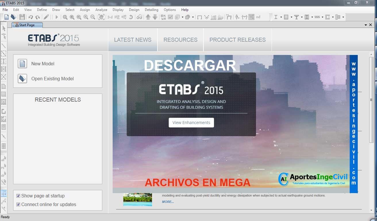 Descargar Etabs 2015 32 y 64 bits