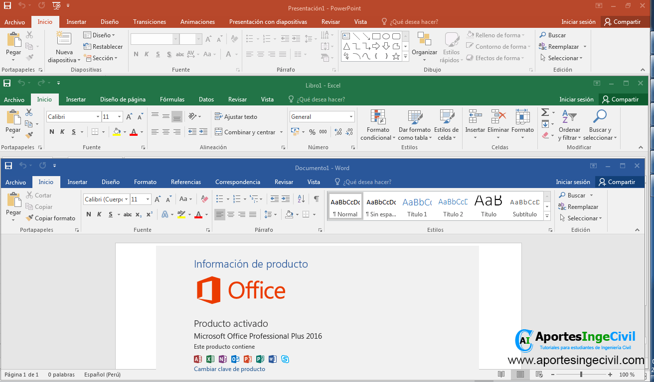 Descargar office 2016 professional plus