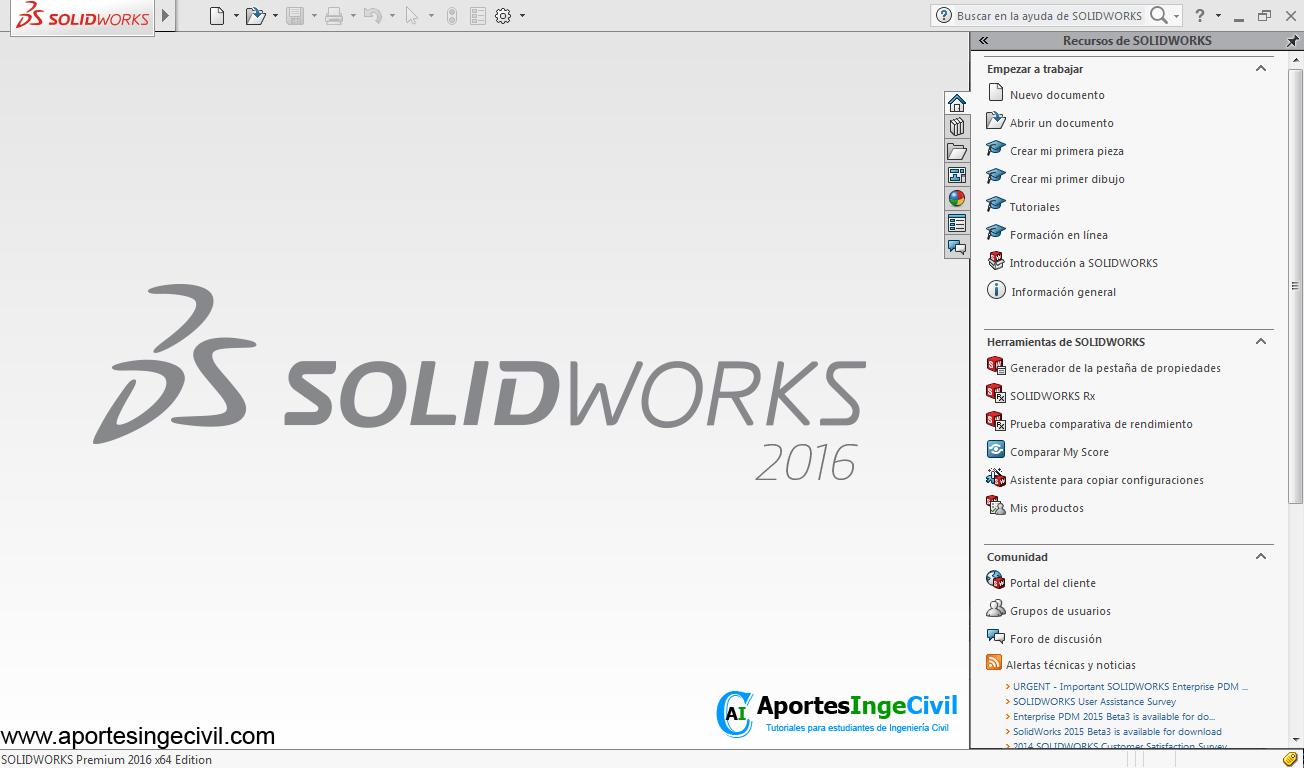 Descargar SolidWorks 2016