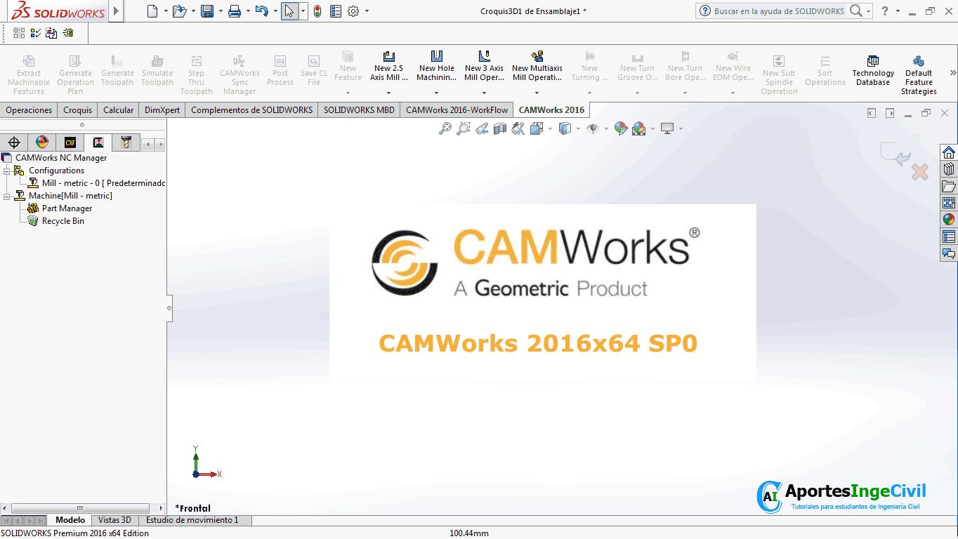 Descargar CAMWorks 2016 SP0