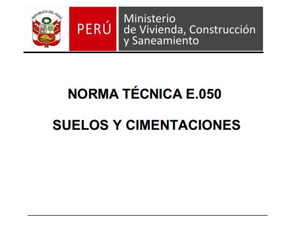 Norma E.050 - Suelos y Cimentaciones