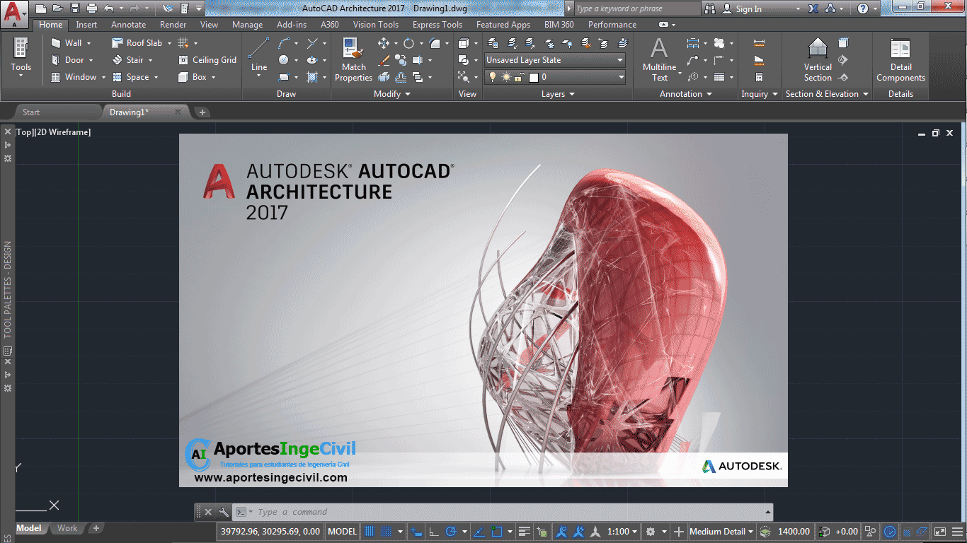 Autocad architecture 2017 32 64 bit espa ol e ingles for Architecture 2018