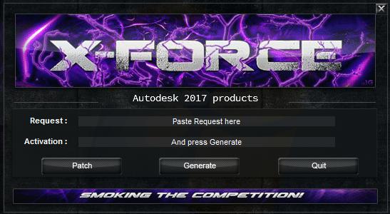Xforce 2017 Activar AutoCAD 2017