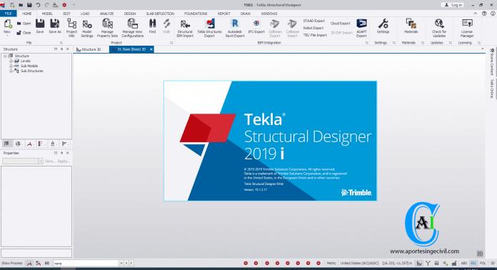Descargar Tekla Structural Designer 2019i