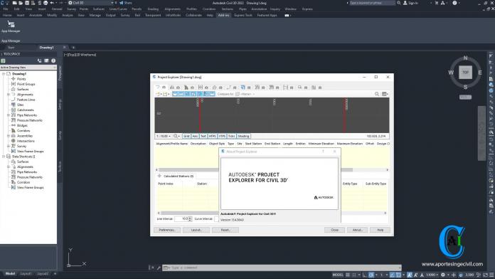 Autodesk Project Explorer for Civil 3D 2022