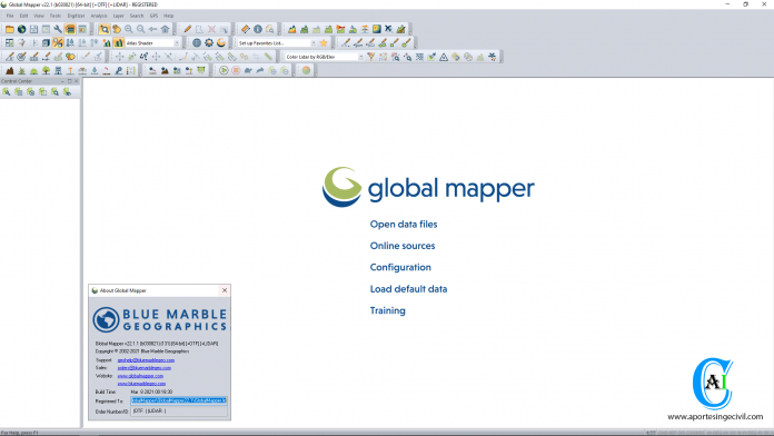 Blue Marble Global Mapper v22